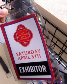 The exhibitor badge!